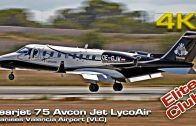 Private Jet Learjet 75 Avcon Jet (OE-GJW) LycoAIR landing Valencia!