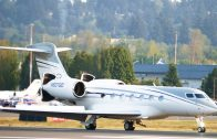 Gulfstream G500 landing at Portland Airport [N507GD]. (4K).